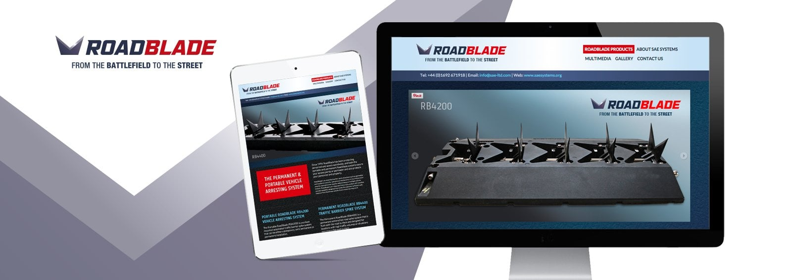 Web design and company branding for RoadBlade