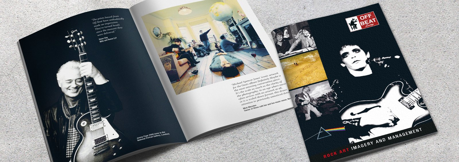 Brochure Design for Off Beat Lounge by Cameron Creative