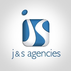 J & S Agencies Logo Design