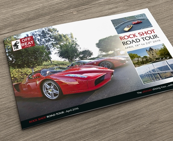 Rock Shot Road Tour Brochure by Cameron Creative