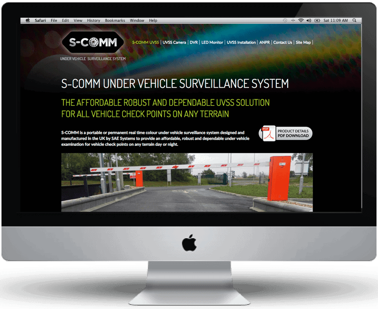S-COMM website design by Cameron Creative, Norwich