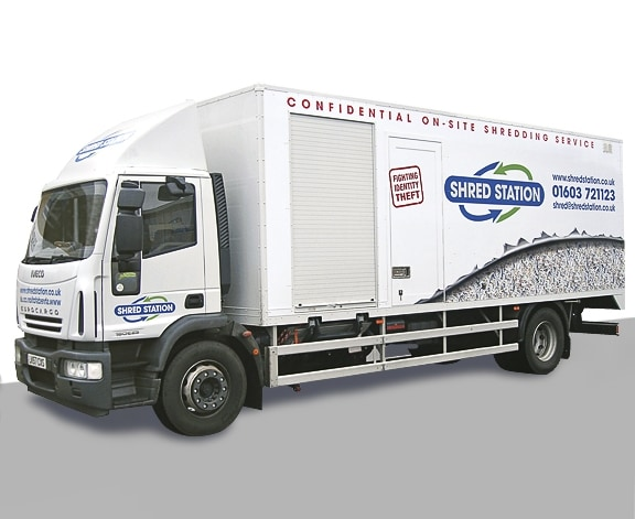 Shred Station Vehicle Graphics by Cameron Creative