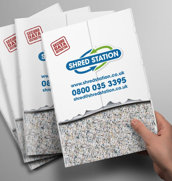 Shred Station Brochure Design by Cameron Creative