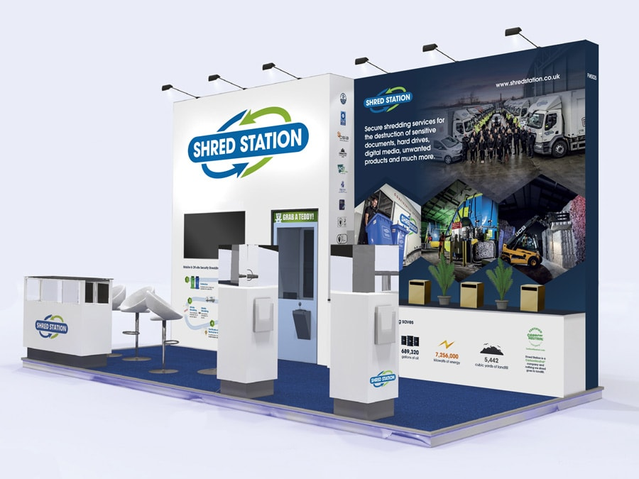 Shred Station Facilities Exhibition Mock-up