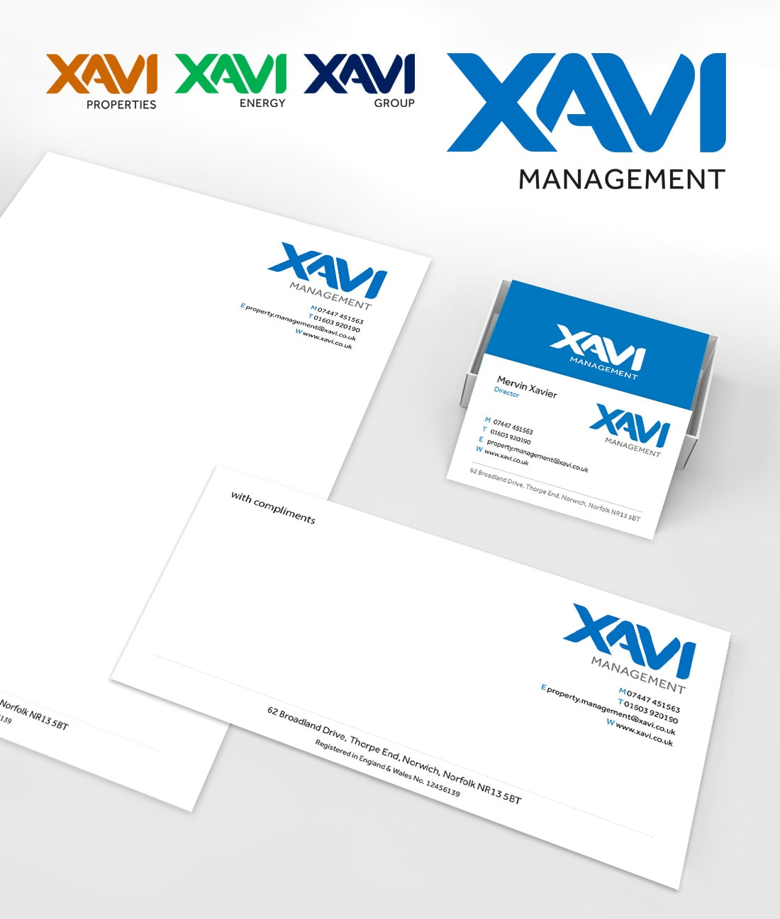 Xavi Stationery and Branding Design by Cameron Creative